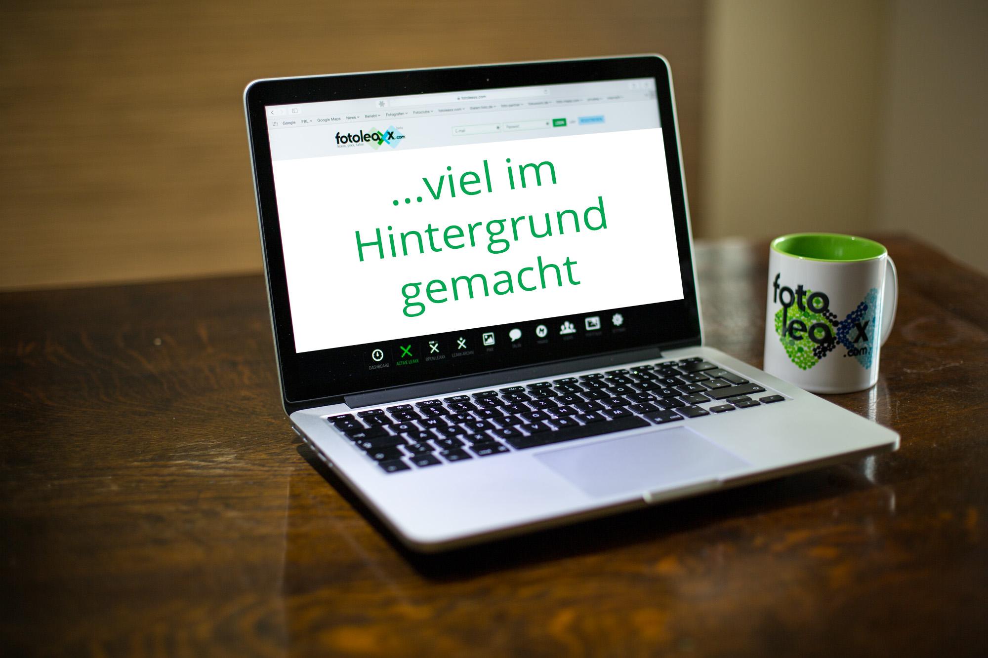 VIEL IM HINTERGRUND GEMACHT